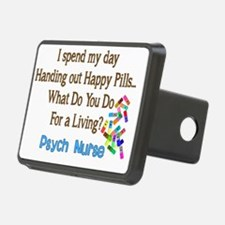 Psych Nurse I spend HAPPY  Hitch Cover