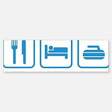 EatSleepCurling1E Bumper Bumper Sticker