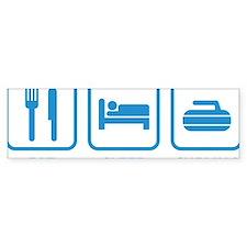 EatSleepCurling1E Bumper Sticker