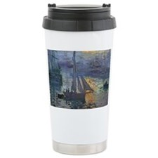 Claude Monet Sunrise At Sea Travel Mug