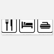 EatSleepCurling1A Bumper Bumper Sticker