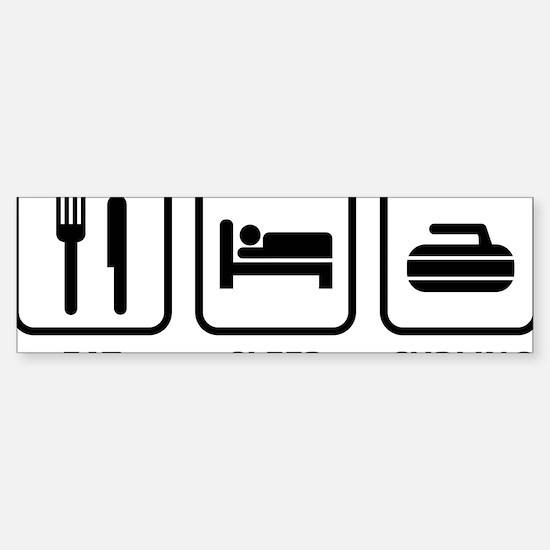 EatSleepCurling1A Sticker (Bumper)