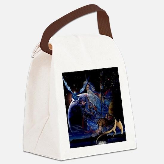 Wizzard & Dragon Canvas Lunch Bag