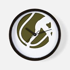 female tennis player Wall Clock