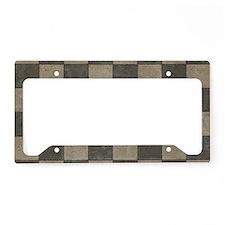 Grunge Tiles License Plate Holder