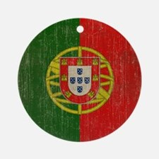 Vintage Portugal Flag Round Ornament