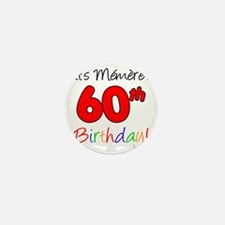 Memere 60th Birthday Mini Button