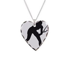 female tennis player Necklace