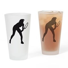 female tennis player Drinking Glass