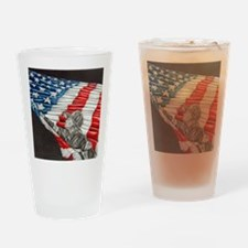 Fireman with American Flag Drinking Glass
