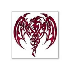 """Red dragon Square Sticker 3"""" x 3"""""""
