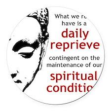 Spiritual Condition Round Car Magnet