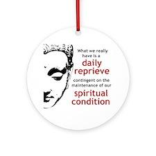 Spiritual Condition Round Ornament