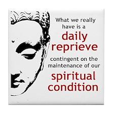 Spiritual Condition Tile Coaster