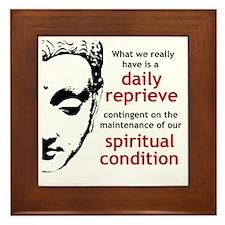 Spiritual Condition Framed Tile