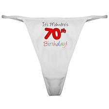 Memere 70th Birthday Classic Thong