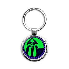 Aleister Crowley Round Keychain