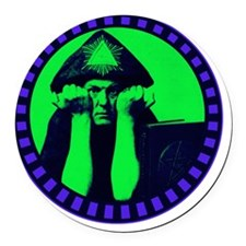 Aleister Crowley Round Car Magnet