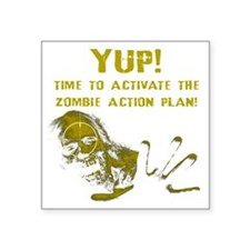 """Activate the Zombie Action  Square Sticker 3"""" x 3"""""""