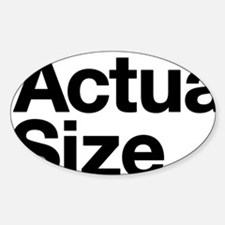 *Actual Size Sticker (Oval)