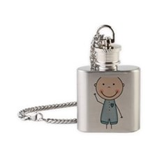 Baby Brother Flask Necklace