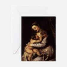 Madonna and child - Titian - c 1565 Greeting Cards