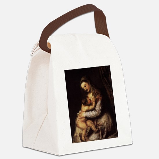 Madonna and child - Titian - c 1565 Canvas Lunch B