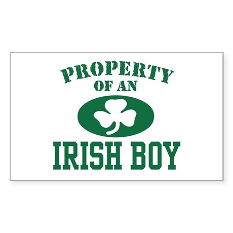 Property of an Irish Boy Rectangle Sticker