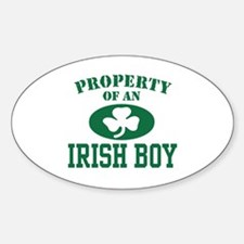 Property of an Irish Boy Oval Decal