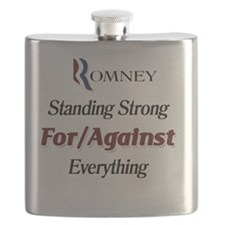 Romney Standing Strong For/Against Everythin Flask