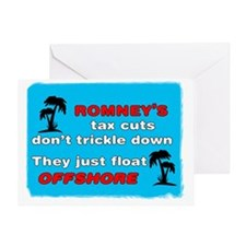 Romneys Tax Cut Dont Trickle Down Greeting Card