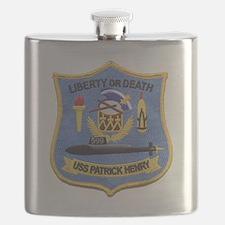 uss patrick henry patch transparent Flask