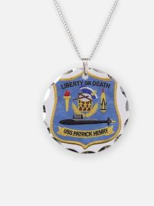 uss patrick henry patch tran Necklace