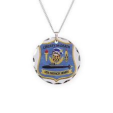 uss patrick henry patch tran Necklace Circle Charm