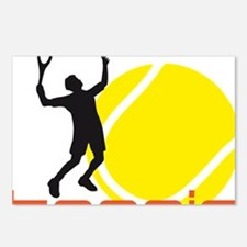tennis player Postcards (Package of 8)