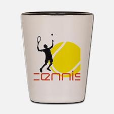 tennis player Shot Glass