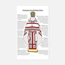 Vestments of an Orthodox Pries Sticker (Rectangle)
