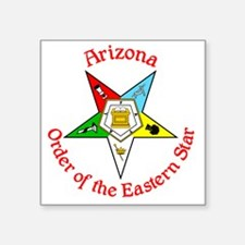 "Arizona Eastern Star Square Sticker 3"" x 3"""