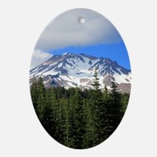 Mount Shasta 9 Oval Ornament