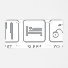 EatSleepYoyo1C Aluminum License Plate