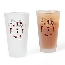 Happy Halloween Bllod drips Drinking Glass