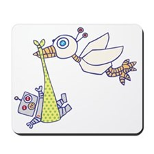Robot Baby Delivery! Mousepad