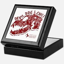 Devil Dog Chili Logo maroon Keepsake Box
