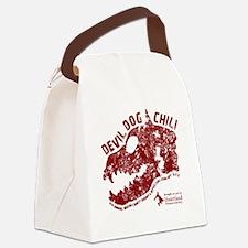 Devil Dog Chili Logo maroon Canvas Lunch Bag