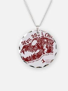 Devil Dog Chili Logo maroon Necklace