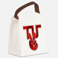 TydyUnify - Red Peace Fingers Canvas Lunch Bag