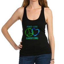 Peace Love Barbecuing Racerback Tank Top