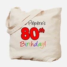 Pepere 80th Birthday Tote Bag