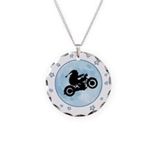 santa-moon-bike-T Necklace