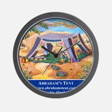 Abrahams Tent Logo Wall Clock